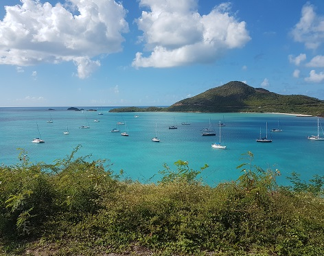 View from bay in Antigua