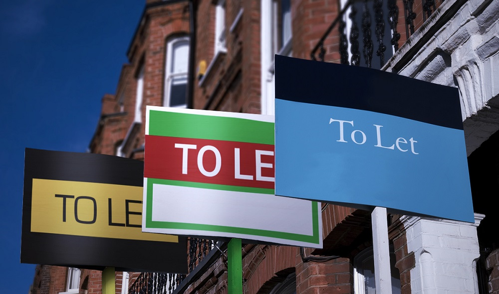 'To let' signs outside a row of properties