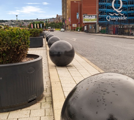 Scenery outside Quayside car park