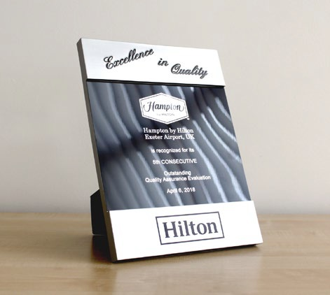 Hampton by Hilton Hotel excellence award