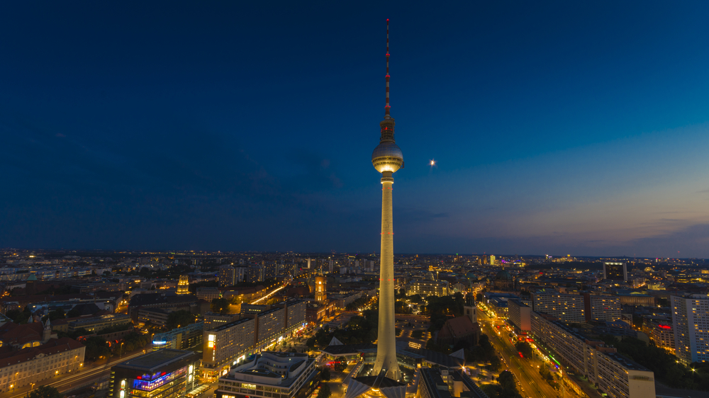 Skyline of Berlin with the TV tower
